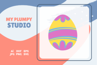 Easter Simple Icon Egg Graphic Icons By myplumpystudio