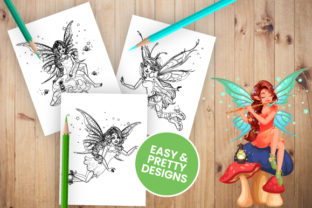 Print on Demand: Fairy Coloring Pages for Kids and Adults Graphic KDP Interiors By Trend Color