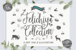 Print on Demand: Felichiya Collection Script & Handwritten Font By jimtypestudio
