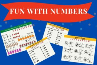 Fun Numbers Practice for Grade 1 Kids Graphic 1st grade By Greenleaf Design