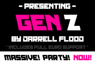 Print on Demand: Gen Z Display Font By Dadiomouse