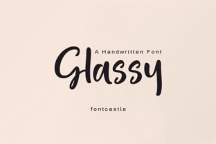 Print on Demand: Glassy Script & Handwritten Font By FontCastle