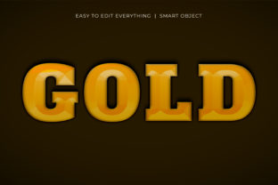 Print on Demand: Gold Luxurious 3d Golden Text Effect Graphic Layer Styles By grgroup03