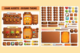 Ground Rock Game UI Assets Graphic UX and UI Kits By SCWorkspace