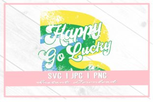 Print on Demand: Happy Go Lucky Retro Saint Patrick's Day Graphic Illustrations By thecouturekitten
