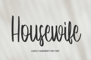 Print on Demand: Housewife Script & Handwritten Font By Arendxstudio