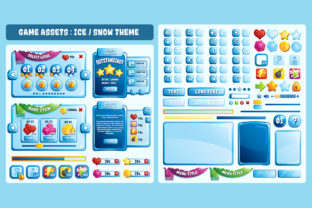 Ice Snow Game UI Assets Graphic UX and UI Kits By SCWorkspace