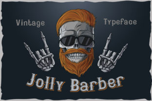 Print on Demand: Jolly Barber Blackletter Font By Fractal font factory