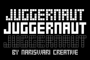 Print on Demand: Juggernaut Display Font By Nariswari Creative