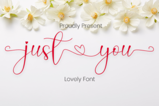 Print on Demand: Just You Script & Handwritten Font By Nabila Graphic