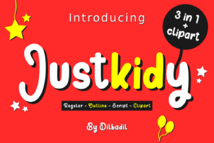 Print on Demand: Justkidy Script & Handwritten Font By dilbadil