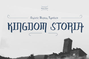 Print on Demand: Kingdom Storia Display Font By Jetsmax Studio