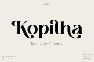Print on Demand: Kopitha Serif Font By ekahermawan