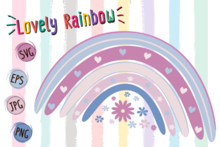 Print on Demand: Lovely Rainbow Graphic Logos By Kiang Stock Digiart