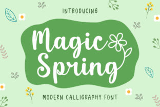 Print on Demand: Magic Spring Script & Handwritten Font By Nirmala Creative