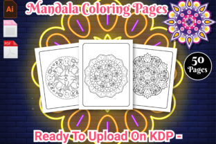 Print on Demand: Mandala Coloring Book for Kids & Adults Graphic KDP Interiors By Creative Designer