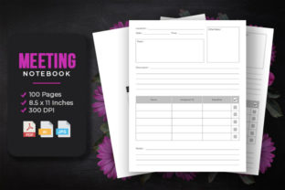 Meeting Notebook - KDP Interior Template Graphic KDP Interiors By srsadi123