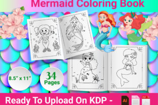 Print on Demand: Mermaid Coloring Book - KDP Interior Graphic KDP Interiors By Creative Designer