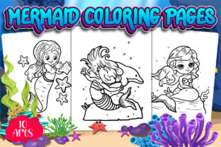 Mermaid Coloring Pages | KDP Interior Graphic Coloring Pages & Books Kids By XpertDesigner