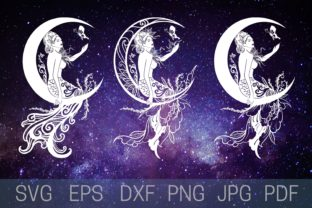 Print on Demand: Mermaid Silhouette Graphic Crafts By Cnxsvg