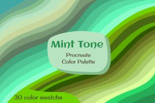 Print on Demand: Mint Tones Color Palette Graphic Add-ons By SENSE LIBRARY