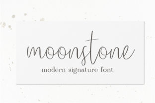 Print on Demand: Moonstone Script & Handwritten Font By sunday nomad