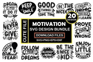 Motivation SVG Design Bundle  By Crafthill260
