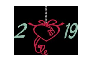 New Year 2019 Holidays & Celebrations Embroidery Design By Wingsical Whims Designs