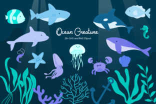 Print on Demand: Ocean Creature Graphic Illustrations By Helotype