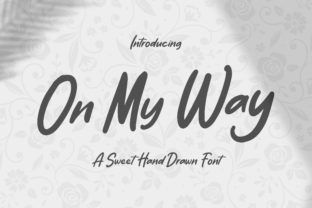 Print on Demand: On My Way Script & Handwritten Font By TypeFactory