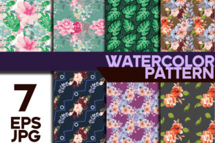 Print on Demand: Pattern Flower Water Color Graphic Patterns By ahmaddesign99