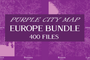 Print on Demand: Purple City Maps of Europe Bundle  By Mappingz
