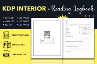 Print on Demand: Reading Log Book - KDP Interior Graphic KDP Interiors By KDP King