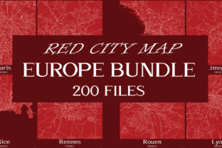 Print on Demand: Red City Maps Europe Bundle  By Mappingz