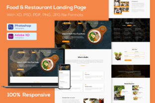 Restaurant Landing Page Template Graphic Landing Page Templates By shahtech50