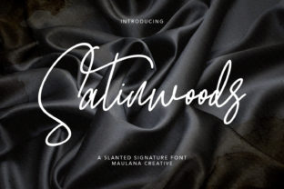 Print on Demand: Satinwoods Script & Handwritten Font By Maulana Creative