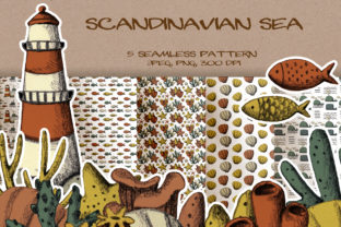 Scandinavian Sea Nautical Patterns Graphic Patterns By LukaNeu