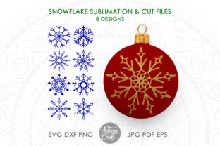 Print on Demand: Snowflake SVG, Snowflake Clipart Graphic 3D Christmas By Artisan Craft SVG