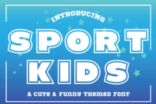 Print on Demand: Sport Kids Display Font By KtwoP