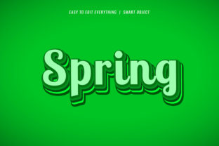 Spring 3d Natural Color Text Effect Graphic Layer Styles By grgroup03