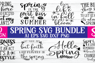 Print on Demand: Spring SVG Bundle  By BDB_Graphics