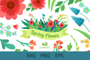 Print on Demand: Spring Floral Svg Clipart, Mothers Day Graphic Illustrations By ValinMalin