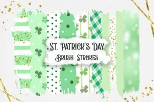 St. Patrick's Day Brush Strokes Clipart Graphic Backgrounds By PinkPearly