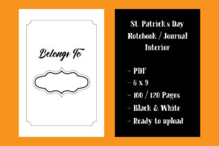 Print on Demand: St. Patrick's Day Notebook KDP Interior Graphic KDP Interiors By marbledesign