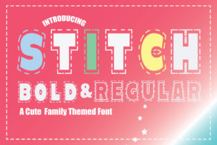 Print on Demand: Stitch Display Font By KtwoP