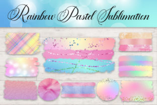 Sublimation Rainbow Pastel Clipart Graphic Backgrounds By PinkPearly