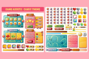 Sugar Candy Game UI Assets Graphic UX and UI Kits By SCWorkspace