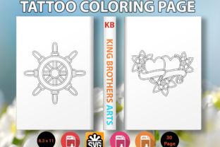 Print on Demand: Tattoo Coloring Page - 2 Graphic Coloring Pages & Books Kids By Sei Graph Arts