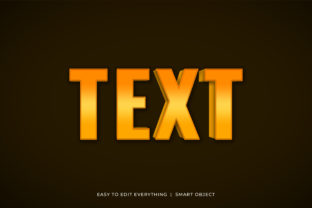Print on Demand: Text 3d Golden Gradient Text Effect Graphic Layer Styles By grgroup03
