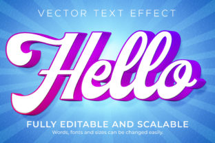 Print on Demand: Text Effect Cartoon Hello Text Style Graphic Layer Styles By NA Creative
